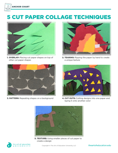 5 Cut Paper Collage Techniques - FLEX Resource