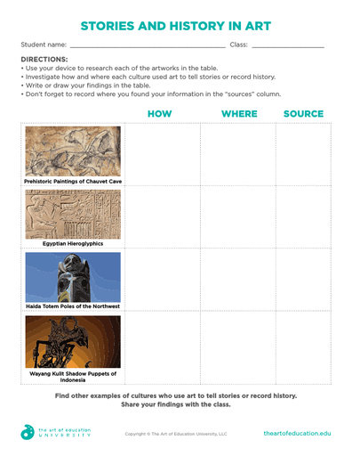 Stories and History in Art - FLEX Assessment