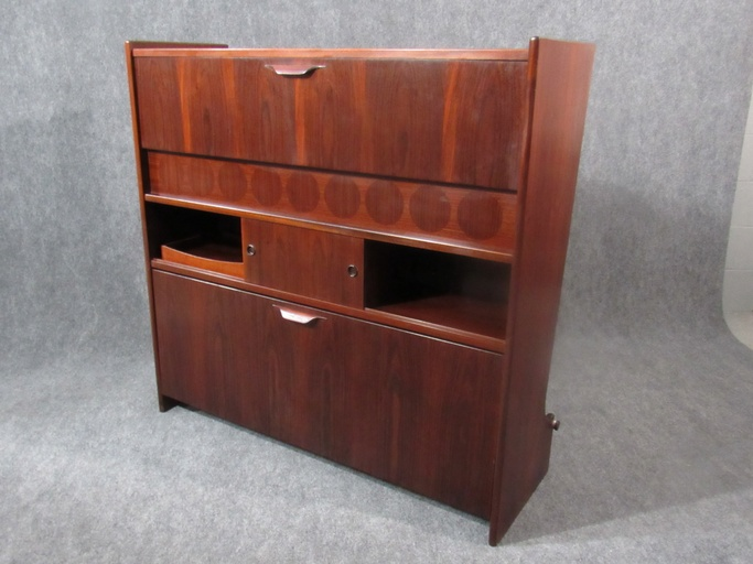 Mid-Century, Danish Modern Rosewood Bar by Johannes Andersen. Circa 1960s.