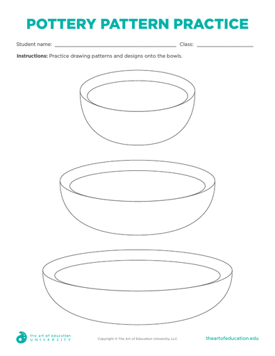 Pottery Pattern Practice - FLEX Resource