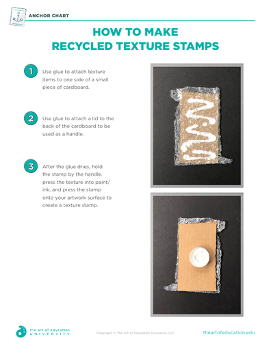 How to Make Recycled Texture Stamps - FLEX Resource