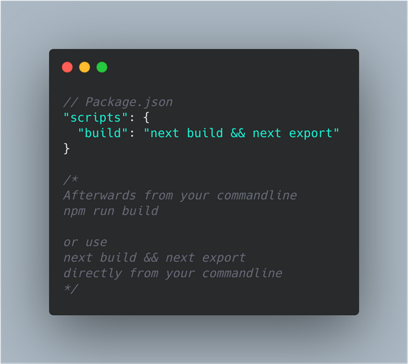 static html export