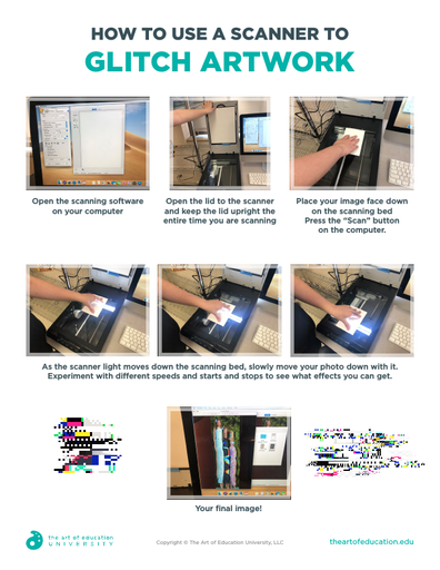 How to Use a Scanner to Glitch Artwork - FLEX Assessment
