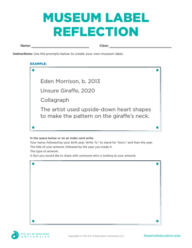 Museum Label Reflection - FLEX Assessment