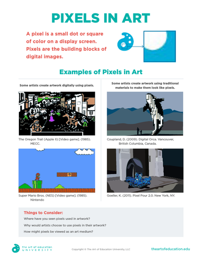 Pixels in Art - FLEX Assessment
