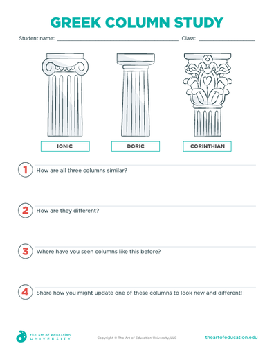 Greek Column Study - FLEX Resource