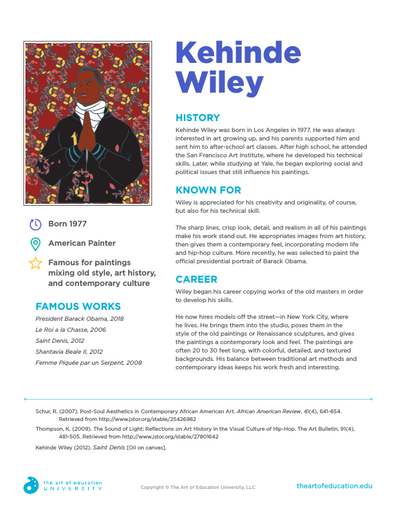 Kehinde Wiley - FLEX Assessment