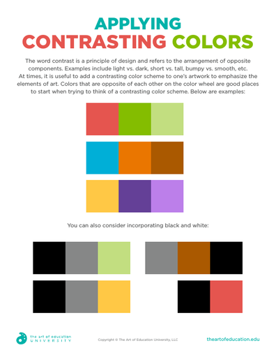 Applying Contrasting Colors - FLEX Assessment