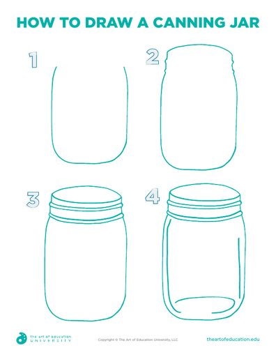How to Draw A Canning Jar - FLEX Resource