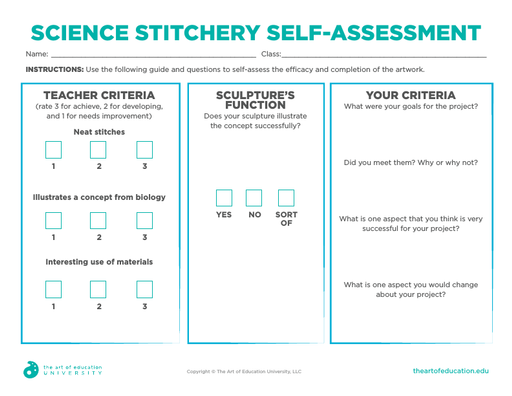 Science Stitchery Self Assessment - FLEX Assessment