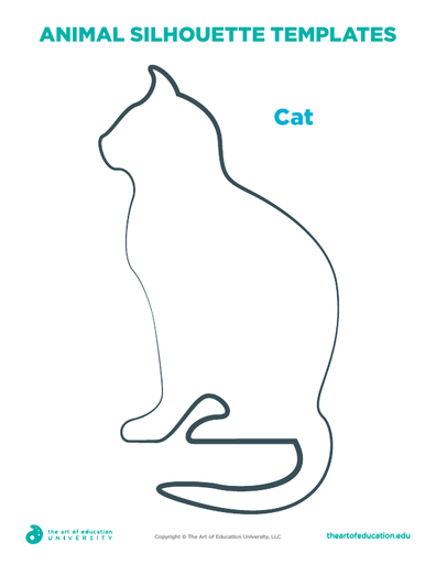 Animal Silhouette Template: Cat - FLEX Assessment