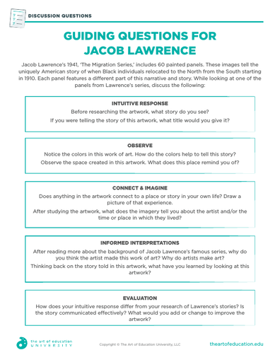 Guiding Questions for Jacob Lawrence - FLEX Assessment