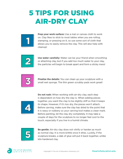 5 Tips for Using Air Dry Clay - FLEX Resource