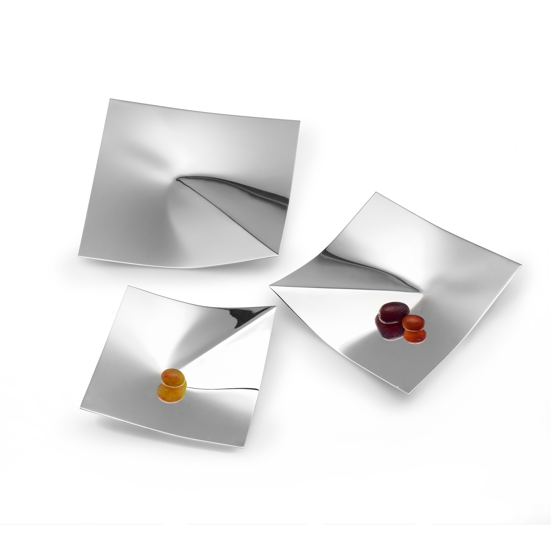 SILVER SPICE DISHES