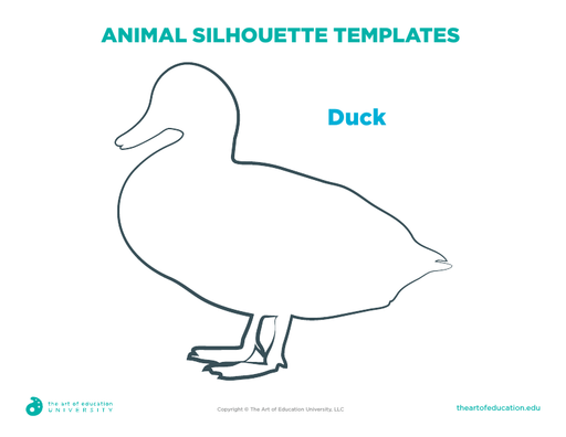 Animal Silhouette Templates: Duck - FLEX Assessment