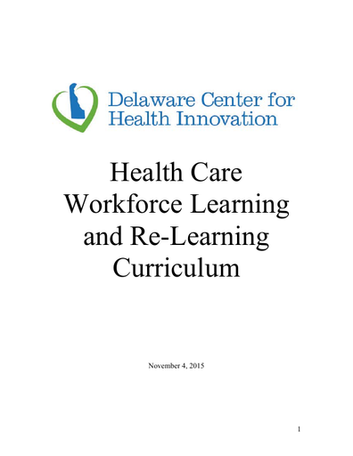 Health Care Workforce Learning and Re-Learning Curriculum