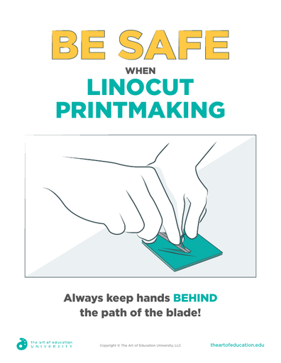 Be Safe When Linocut Printmaking - FLEX Assessment