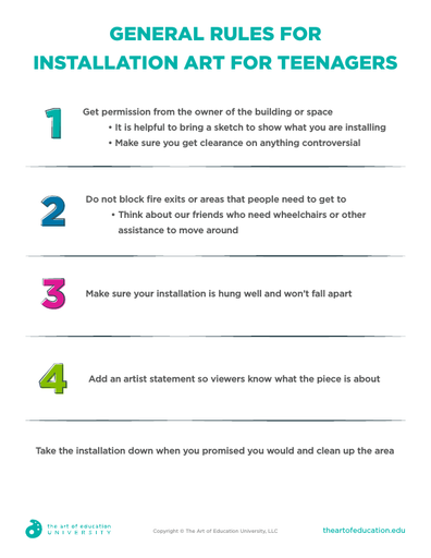 General Rules for Installation Art for Teenagers - FLEX Assessment