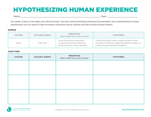 Hypothesizing Human Experience - FLEX Resource