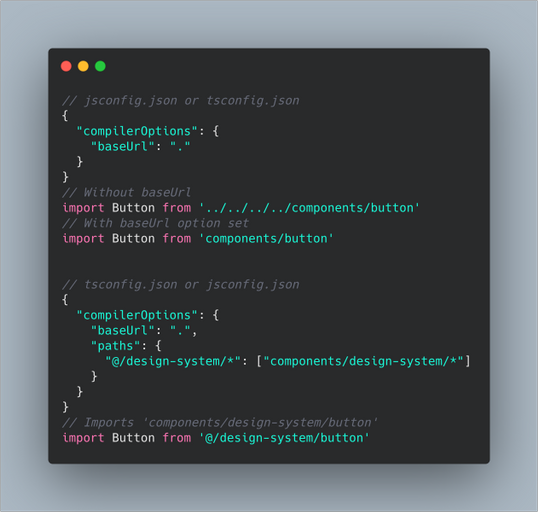 absolute import and aliases with nextjs