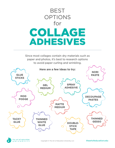 Best Options for Collage Adhesives - FLEX Assessment