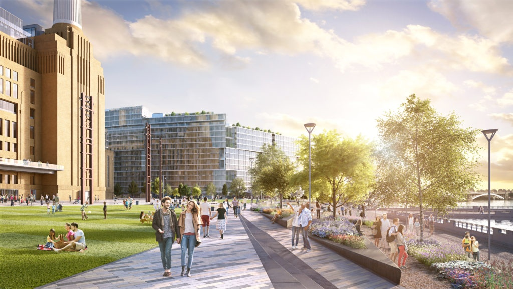 Three spectacular parks showcase the new Battersea Power Station