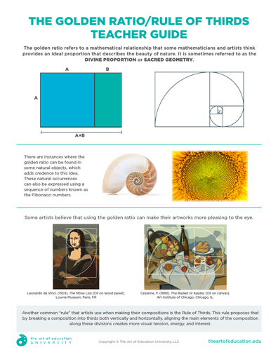 The Golden Ratio:Rule of Thirds Teacher Guide - FLEX Assessment
