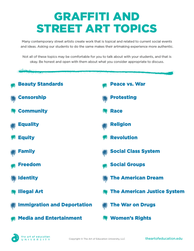 Graffiti & Street Art Topics - FLEX Resource