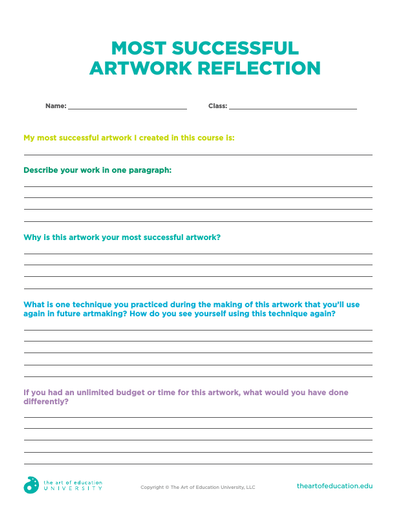 Most Successful Artwork Reflection - FLEX Assessment