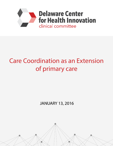 Care Coordination as an Extension of Primary Care