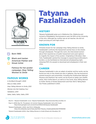 Tatyana Fazlalizadeh - FLEX Resource