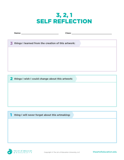 3 2 1 Self Reflection - FLEX Assessment