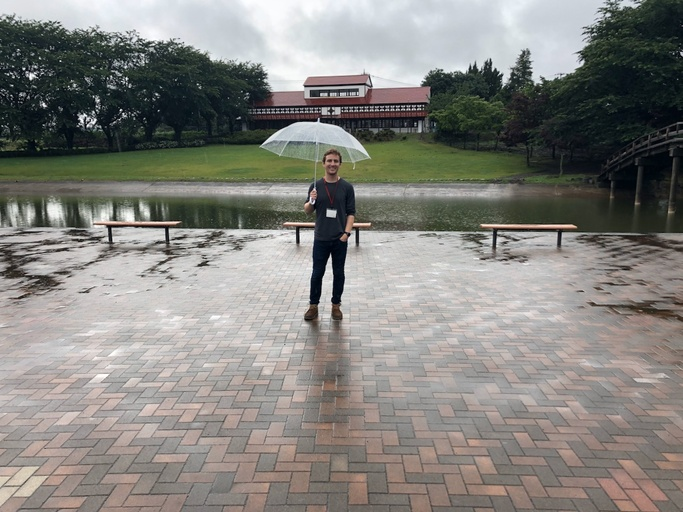Nick on the Eishin campus