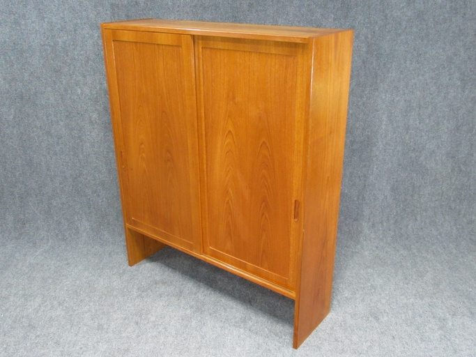Pair of Mid-Century, Danish Modern Teak Cabinets by Poul Hundevad for HU. Circa 1960s.