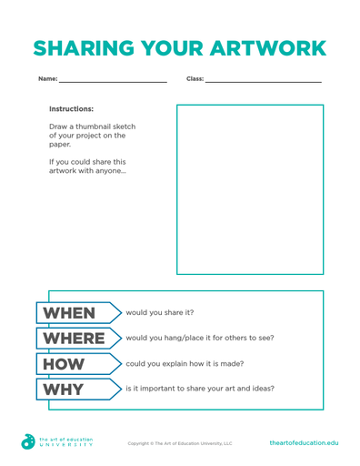 Sharing Your Artwork - FLEX Assessment