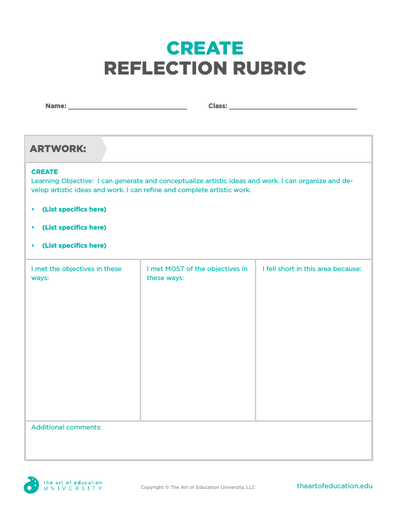 Create Reflection Rubric - FLEX Assessment