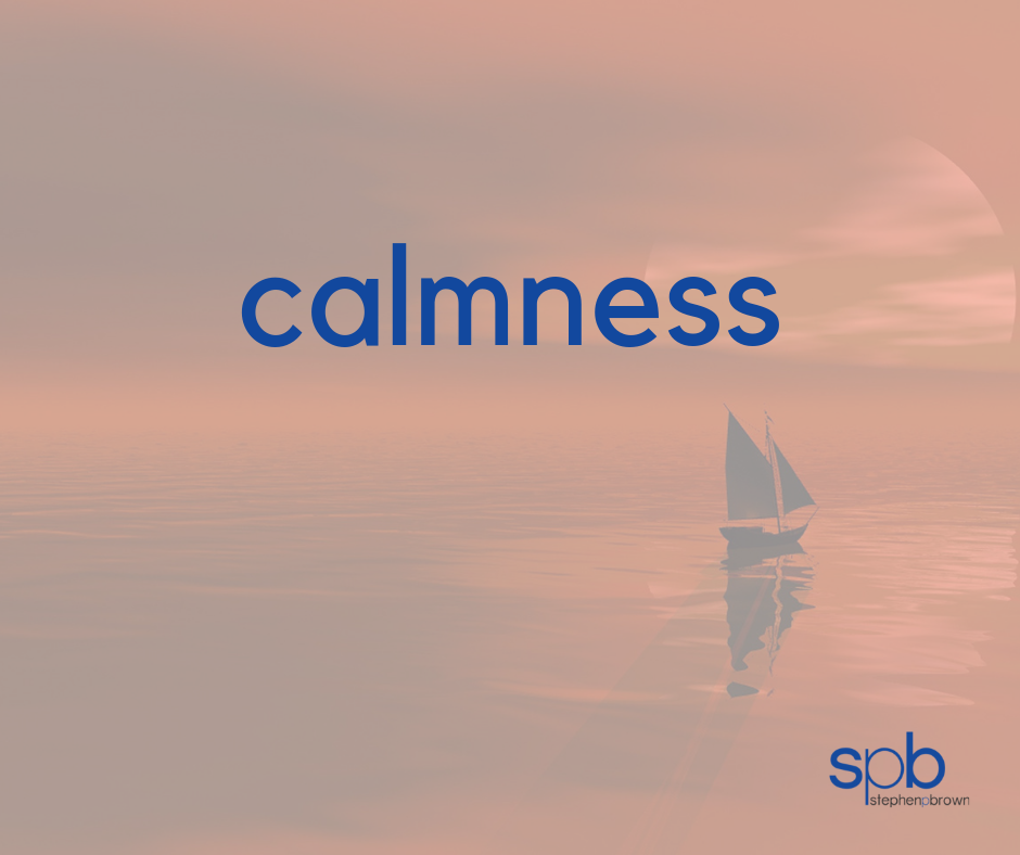 Calmness - A Characteristic of Attractiveness