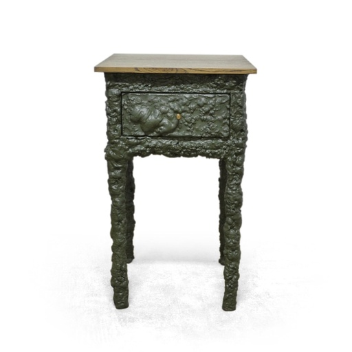 PU side table with drawer nuotrauka