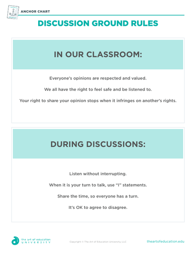 Discussion Ground Rules - FLEX Assessment