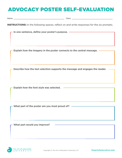 Advocacy Poster Self Evaluation - FLEX Assessment
