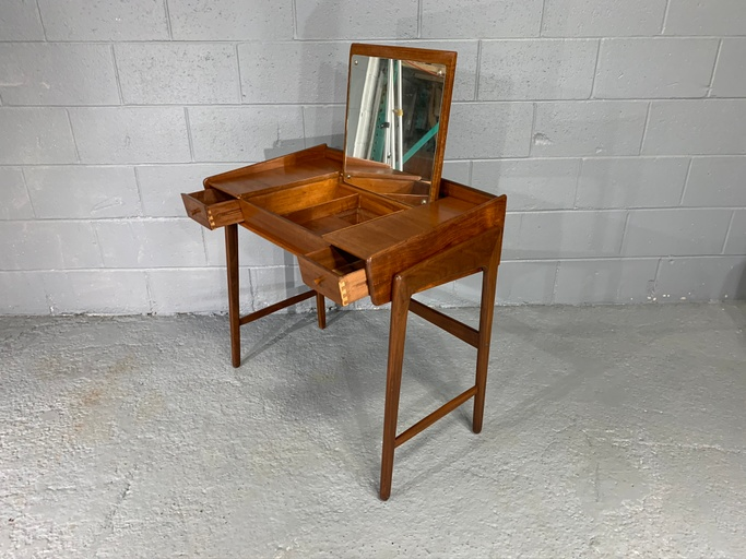 Mid-century Danish Modern Vanity Table / Dressing Table / Children's Table in teak