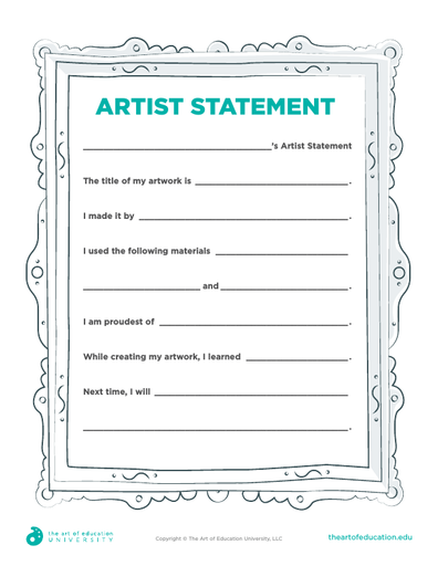 Artist Statement Template - FLEX Assessment