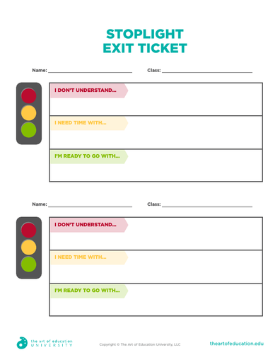 Stoplight Exit Ticket - FLEX Assessment