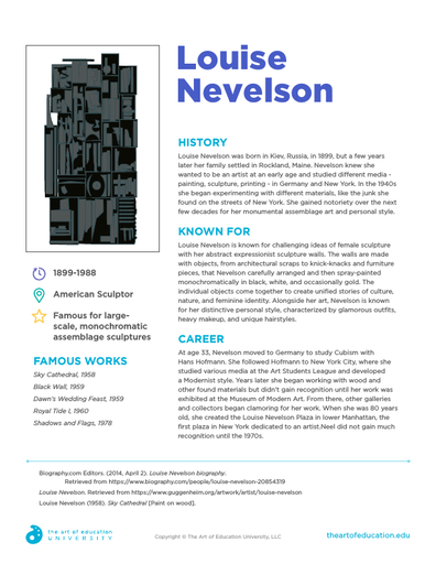 Louise Nevelson - FLEX Assessment