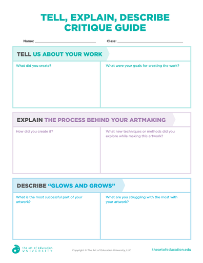 Tell, Explain, Describe, Critique Guide - FLEX Resource