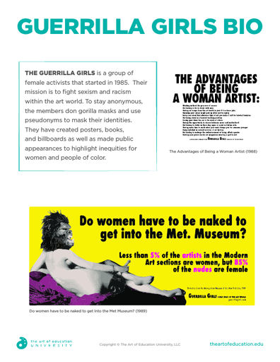 Guerrilla Girls bio - FLEX Assessment