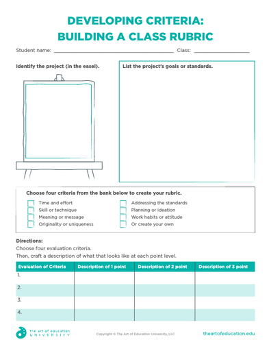 Developing Criteria: Building a Class Rubric - FLEX Assessment