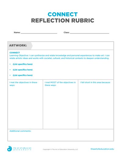Connect Reflection Rubric - FLEX Resource