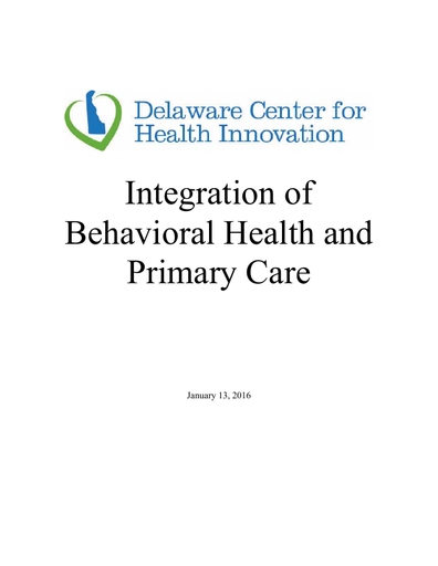 Integration of Behavioral Health and Primary Care