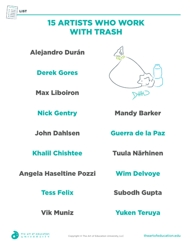 Artists Who Work With Trash - FLEX Assessment